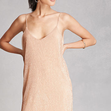 Metallic Shimmer Cami Dress