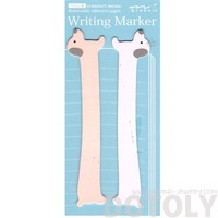 Dachshund Long Puppy Dog Shaped Animal Themed Sticky Post-it Memo Marker Pad Bookmark Tabs