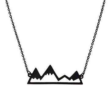 AUGUAU  WeiVan Snowy Mountain Necklace Nature Minimalist Bridesmaids Boho Jewelry