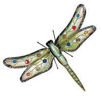 Park Avenue Collection Oversized Metal Dragonfly Plaque