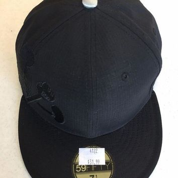 CUSTOM MICKEY MOUSE ALL BLACK RETRO NEW ERA 5950 FLAT B 354b1ee4dac5