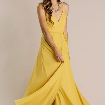 Magnolia Wrap Maxi Dress