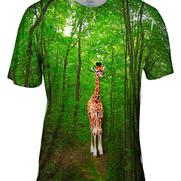 Giraffe Lost In The Forest