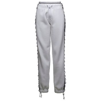 FENTY BY RIHANNA X PUMA LACING SWEATPANTS WOMEN'S - WHITE/BLACK