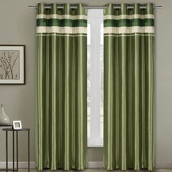 Sage 54x63 Milan Blackout Multilayer Energy Saving Grommet Curtain Panel