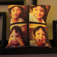 "8"" Photo Pillow- Custom Instagram Pillow- Wedding Favor, Bridesmaid Gifts, Graduation, Prom, Long Distance."