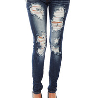 Papaya Clothing Online :: DESTROYED DENIM JEANS