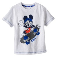 Disney's Mickey Mouse Skateboard Slubbed Tee by Jumping Beans - Toddler Boy, Size: