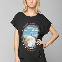 Feather Hearts Distressed Eagle Tee - Urban Outfitters
