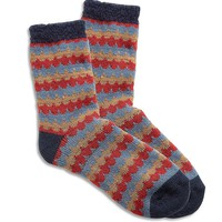 Lucky Brand Chenille Knit Crew Socks Womens - Navy (One Size)