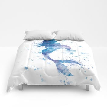 Mermaid Comforters by monnprint