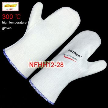 CASTONG 300 degree High temperature gloves No finger Aramid fire gloves kitchen oven Microwave oven Anti-scald safety gloves
