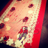 girlfriend card red cards card blank greeting cards fairy cards flowers cards birthday gift card thank you card