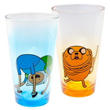 Adventure Time - Finn And Jake Fun Pint Glass Set