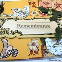 Remembrance Handmade Sympathy Card  | APENNY4URTHOUGHTS - Cards on ArtFire