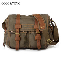 Hot 2016 New Arrival Fashion Canvas Women Messenger Bags Casual Black Men Travel Bags Vintage Crossbody Bag bolsos feminina