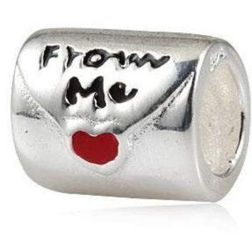 European Charm Sterling Silver Bead Love Letter