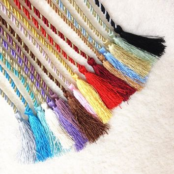 Colorful Window Cotton Rope House Hobby Window Tieback Tassel Curtains Decor