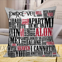 Pierce The Veil Song Lyric on Square Pillow Cover