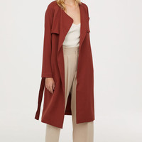 Soft trenchcoat - Rust red - Ladies | H&M GB