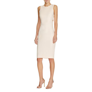 French Connection Womens Whisper Cut-Out Sleeveless Cocktail Dress