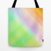 Square - checked, colors pixels Tote Bag by Jcks