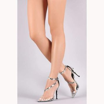 Slithering Transparent Asymmetric Stiletto