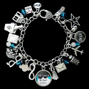 The Fault In Our Stars Themed Charm Bracelet