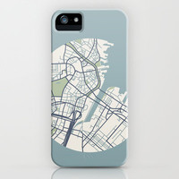Boston Map iPhone 2 iPhone Case by Sophie Calhoun