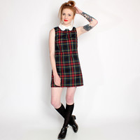 Ark for Women Ark Black Heather Peter Pan Collar Tartan Shift Dress