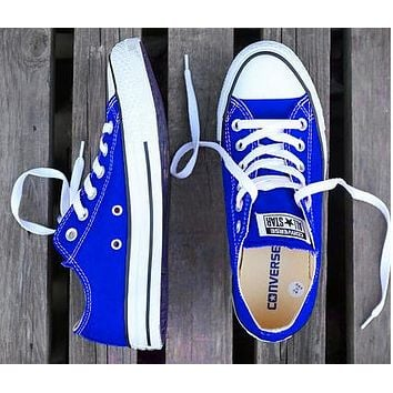 Converse Fashion Women Men Casual Canvas Flats Sneakers Sport Shoes Sapphire Blue