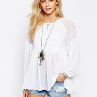 Boohoo Chiffon Blouse at asos.com