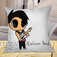 Calum Hood 5SOS Cartoon on Square Pillow Cover