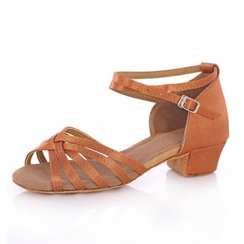 Latin Women's Dancing Shoes Salsa Dance Women Shoes Heels Low Ladies Ballroom Latin Tango Dance Shoes Girls/Kids Children