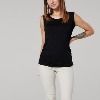 Everyday Maternity Nursing Tank in Black