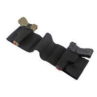 Tactical Belly Band Holster Hunting Pistol Gun Holsters Mesh Elastic Gun Pouch with Mag Slot Dual Holster for Carry 2 Pistols