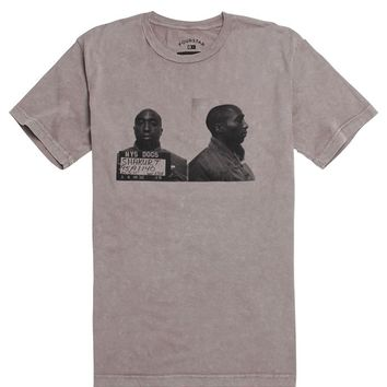 Fourstar 2Pac Mugshot T-Shirt - Mens Tee - Gray