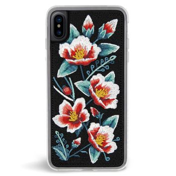 Camellia Embroidered iPhone X Case