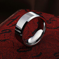 Men's Tungsten Ring Lovers Pinky Ring Fashion Jewelry Ring