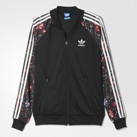 adidas Floral Superstar Track Jacket - Black | adidas US