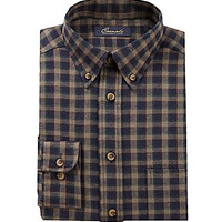 Roundtree & Yorke Casuals Big & Tall Long-Sleeve Flannel Sportshirt