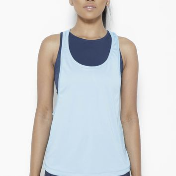 Crater in Arms Tank Top- SurfBlue