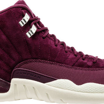 AIR JORDAN RETRO 12 BORDEAUX MENS LIFESTYLE SHOE (BURGUNDY/TAN)