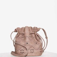 Eyelets Wide Open Bucket Bag