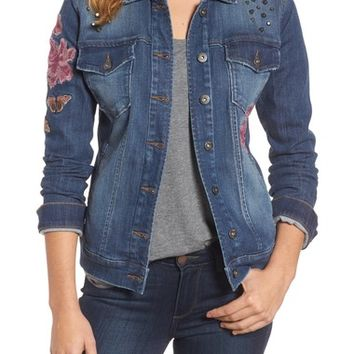 Billy T Embroidered Denim Jacket | Nordstrom