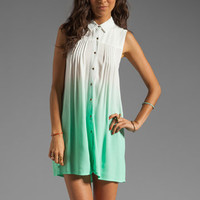 MINKPINK Great White Ombre Shirt Dress in Aqua from REVOLVEclothing.com