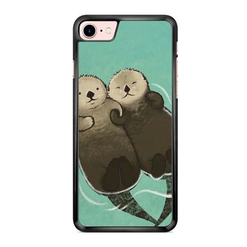 Significant Otters Otters Holding Hands iPhone 7 Case