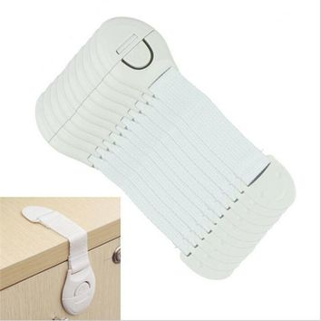 5pcs lot Cabinet Door Drawers Refrigerator Toilet Safety Plastic Lock For Child Kid Baby safety best deal 1pack