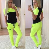 Nike Women Fashion T-shirt Pants Two pieces Set