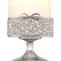 3-Wick Candle Sleeve Gem Bow Pedestal